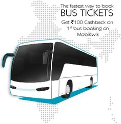 Book Bus ‪#‎Ticket‬ ‪#‎Online‬ through the ‪#‎MobiKwik‬ ‪#‎App‬ Click https://goo.gl/Bn8i49 & Download App & Enjoy services.