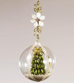 snowglob ornament, christma ornament, homemad ornament