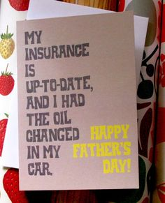 NEED. (also need to do...) Fathers Day Card