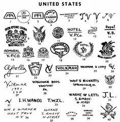 antique pottery marks | Pottery & Porcelain Marks - United States - Pg. 38 of 41