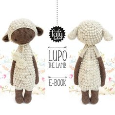 lalylala crochet pattern LUPO the LAMB / sheep  by lalylala