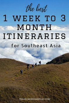 The best routes and itineraries for travel around Southeast Asia. Whether you have one week or three months - find the best itinerary here.