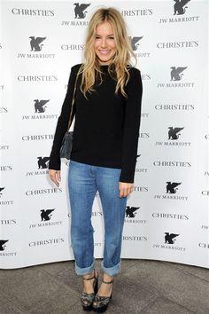 simple. black. cuffed jeans.