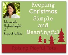 Keeping Christmas Simple and Meaningful
