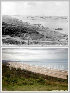 Then and now... Omaha Beach (© Normandy WW2 Then & Now)