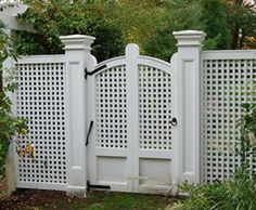 Cellular PVC Lattice Gate | Entrance Gates, Wood Gates, and more from Walpole Woodworkers