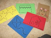 Twelve Crafts Till Christmas: naptime post: make your own sewing cards/lacing cards