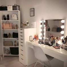 bedroom decor for small rooms \ bedroom decor . bedroom decor for couples . bedroom decor ideas for women . bedroom decor for small rooms . bedroom decor ideas for couples Built In Dressing Table, Dressing Table Mirror, Dressing Room Decor, Dressing Table Ideas Ikea, Bedroom Into Dressing Room, Makeup Dressing Table, Dressing Table In Wardrobe, Corner Dressing Table, Girls Dressing Room
