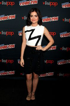 Lucy Hale in Zuhair Murad attends New York Comic-Con. #bestdressed