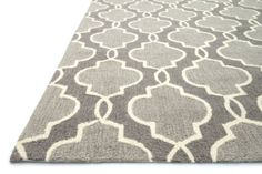 """Amazon.com: 5' x 7'6"""" Rectangular Loloi Area Rug FRACFC-29GY005076 Gray Color Hooked in China """"Francesca Collection"""": Home & Kitchen"""
