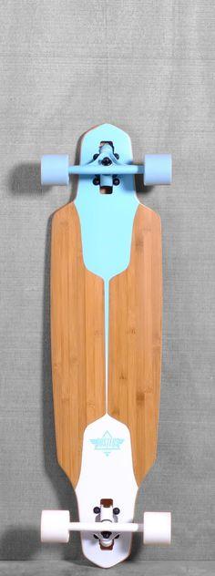 """Dusters 38"""" Channel Longboard - Blue/White"""