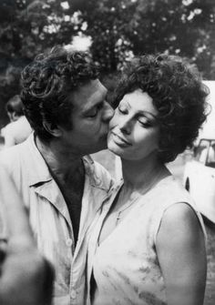 Print of Marcello Mastroianni and Sophia Loren - Black and White Photography Photo Art Gallery, Sophia Loren Images, Marcello Mastroianni, Black And White Photography, Cinema, Handsome, Actors, Couple Photos, Film