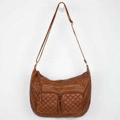 T-SHIRT & JEANS Quilted 2 Pocket Hobo Bag
