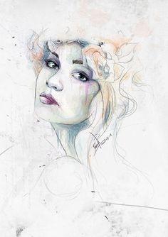 Best Illustration Digital Watercolor Woman images on Designspiration Poster Prints, Art Prints, Behance, Watercolor Design, Watercolor Portraits, Art Model, Graphic Design Inspiration, Traditional Art, Illustrations Posters