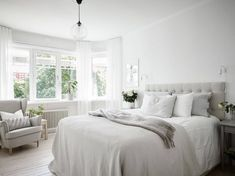 65 Ideas Bath Room Interior Design Scandinavian For 2019 Chic Apartment Decor, Apartment Living, Scandinavian Bedroom, Scandinavian Design, Nordic Bedroom, Room Interior Design, Hygge, Bedroom Decor, Home Decor