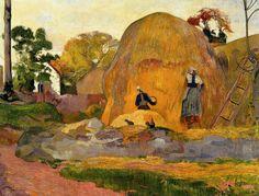 Yellow Haystacks (The golden harvest) (by lluisribesmateu1969) paul gaugin