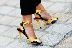 Shoes from 2012 NYC Fashion week. Love the palm trees.