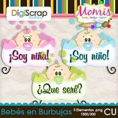 Bebés en Burbujas - $2.20 : DigiScrap Latino