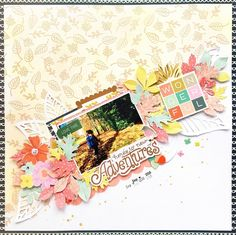 """564 Likes, 8 Comments - Pink Paislee (@pinkpaislee) on Instagram: """"Create a unique background with the Turn The Page stamp set! We love this ready-for-fall layout by…"""""""