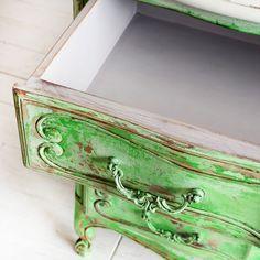 dresser rustic green - BEFORE & AFTER REDESIGN   AGNIESZKA KRAWCZYK   BLOG…