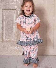 Another great find on #zulily! Pink Carousel Dress & Capri Pants - Infant & Toddler #zulilyfinds