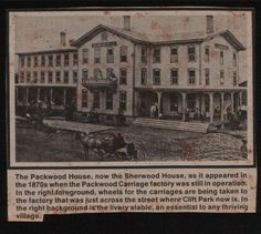 The Packwood House in the 1870s, now The Sherwood Inn