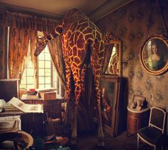 I feel like the giraffe is me, and the room is where I wouldn't mind living. by Miss Aniela.