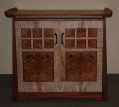 curly maple cabinet doors | Curly cherry sideboard with ...