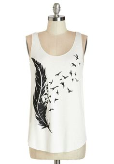 A free-spirited tank for the free-wheelin' days of summer! Or with an oversized black sweater, leggings and boots