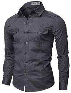 Doublju Polo Assn Mens Classy Button-Down Long Sleeve Plus Size Shirts Fitted Dress Shirts, Shirt Dress, Casual Shirts For Men, Men Casual, Kurta Pajama Men, Mens Designer Shirts, Denim Shirt Men, Tactical Clothing, Camo Shirts