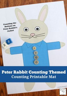 Counting the Button on Peter Rabbit's Jacket Printable Activity