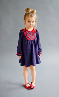 aw15: Lali's organic cotton knit Audrey Dress in delicious plum pudding colors. At the Ali's Market New York Showroom. www.alismarket.com, www.lalikids.com