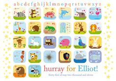 personalised alphabet - so cute!