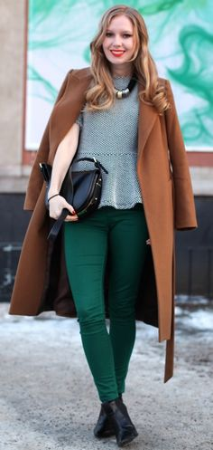 Just bought some dark green jeans for Fall...feeling pretty good about it.