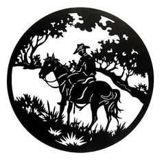 Lone rider Metal Artwork, Metal Wall Art, Stencil Art, Stencils, Plasma Cutter Art, Scroll Saw Patterns Free, Metal Art Projects, Laser Art, Wood Carving Patterns