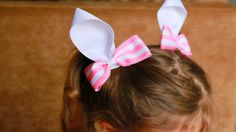 MommyCraftsAlot: Easter Bunny hair clip DIY   Cute bunny ears just in time for Easter HOW TO