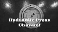 Crushing camera with hydraulic press