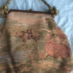 Vintage tapestry purse Very good condition has been carefully taken care of. Mr Simon Ernest made in italy Bags