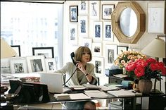Anna Wintour office #office #studio #style