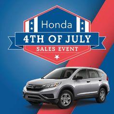 honda 4th july sales event