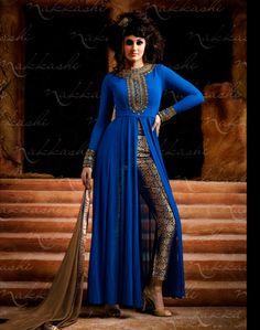 Blue Georgette Designer Anarkali Suit 57974