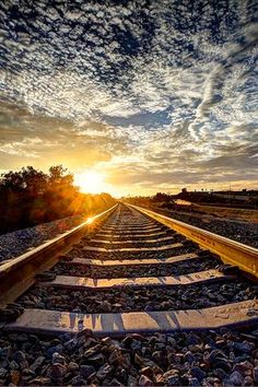 Find images and videos about beautiful, photography and sky on We Heart It - the app to get lost in what you love. Scenery Pictures, Train Pictures, Landscape Pictures, Nature Pictures, Dslr Background Images, Beautiful Nature Wallpaper, Jolie Photo, Train Tracks, Railroad Tracks