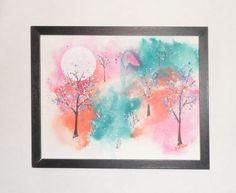 Spiritual art Original watercolor OOAK by EnchantedRoseProduct
