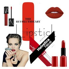 """""""Red"""" by marianti on Polyvore featuring beauty, NARS Cosmetics, Giorgio Armani and Lime Crime"""