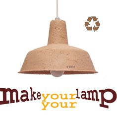 Recycled paper lamp from Make Your Lamp on Etsy.