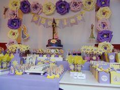 SD Eventos: RAPUNZEL Candy Bar Rapunzel Tangled birthday party Golosinas personalizadas Mesas temáticas
