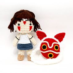 This is San, a really adorable amigurumi doll, inspired in Princess Mononoke, by Studio Ghibli.  Perfect for a thoughtful gift or for your own collection!