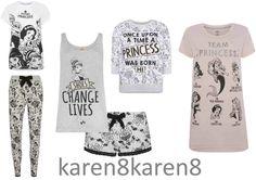 DISNEY PRINCESS COLLECTION Ladies Pyjamas Leggings T Shirt Primark UK 6-20