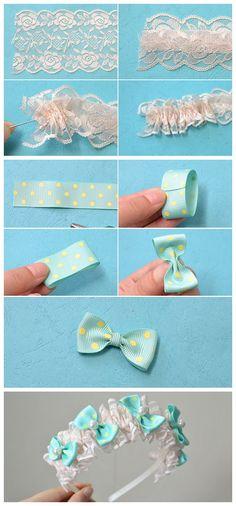 Ideas Baby Girl Crafts Ideas Headband Tutorial For 2019 Diy Baby Headbands, Diy Hair Bows, Diy Bow, Diy Headband, Fabric Bows, Ribbon Bows, Fabric Flowers, Hair Bow Tutorial, Headband Tutorial