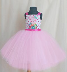937e551506c8 Gentle tulle Peppa Pig Birthday Dress for girls от SugarShopDress Peppa Pig  Dress, 3rd Birthday